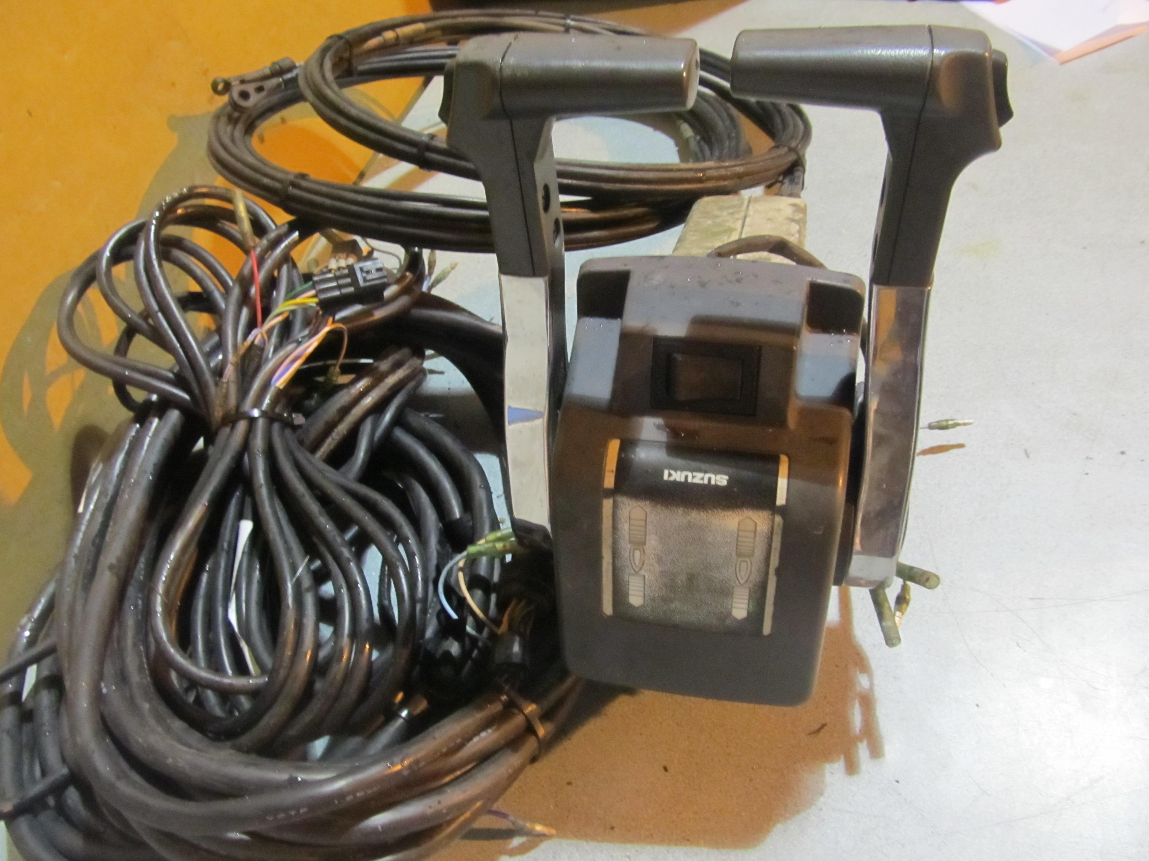 OEM Suzuki Dual Suzuki Deluxe Dual Binnacle Control Box w/ Wiring Harness